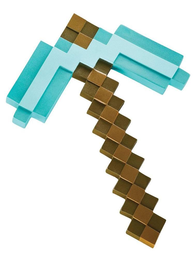 Photo du produit MINECRAFT RÉPLIQUE PLASTIQUE DIAMOND PICKAXE 40 CM