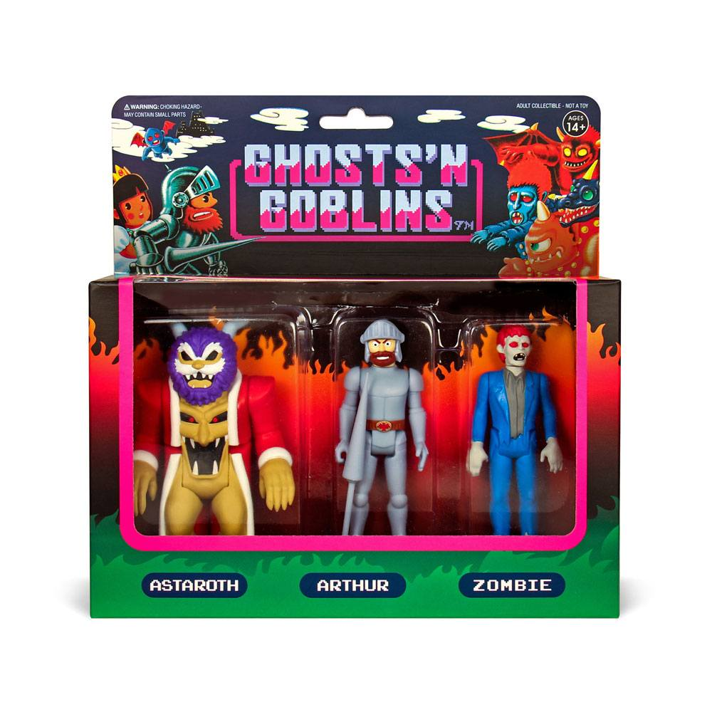 Photo du produit GHOSTS 'N GOBLINS PACK 3 FIGURINES REACTION PACK A 10 CM