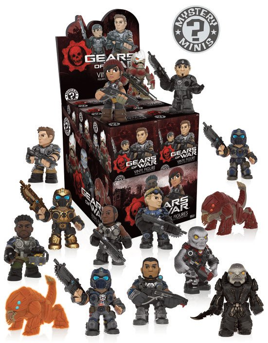 Photo du produit GEARS OF WAR PRESENTOIR + 12 MYSTERY FIGURINES