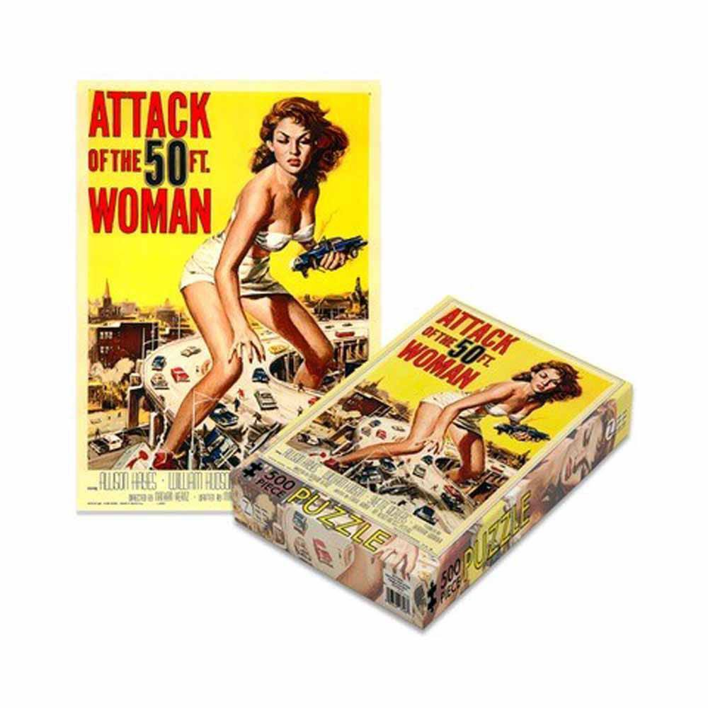 Photo du produit PLAN 9 PUZZLE ATTACK OF THE 50FT WOMAN 500 PIECES