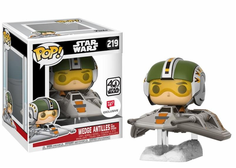 Photo du produit STAR WARS POP RIDES WEDGE ANTILLES ON SNOWSPEEDER EXCLU