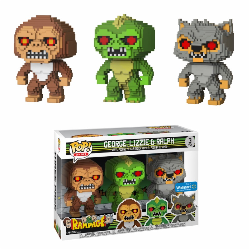 Photo du produit RAMPAGE POP 3-PACK 8-BIT GEORGE LIZZIE RALPH EXCLUSIVE