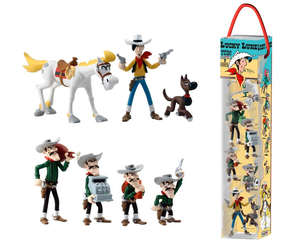 Photo du produit LUCKY LUKE TUBO 7 FIGURINES CHARACTERS 4 - 10 CM