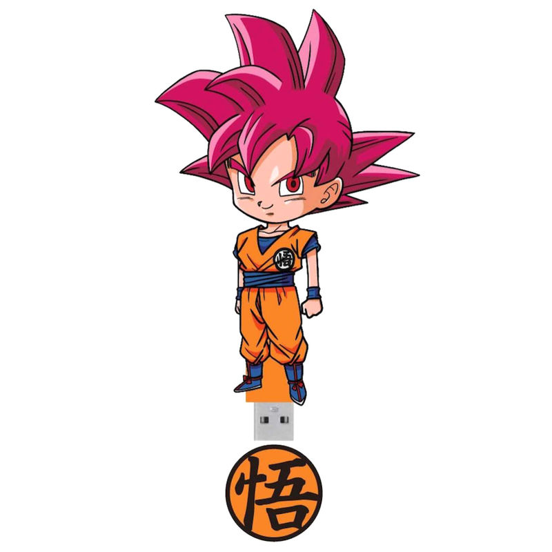 Photo du produit CLE USB GOKU GOD 16GB DRAGON BALL Z