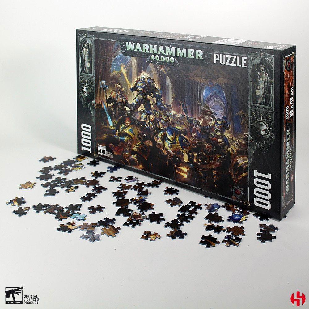 Photo du produit WARHAMMER 40K PUZZLE GULLIMAN VS BLACK LEGION (1000 PIÈCES)