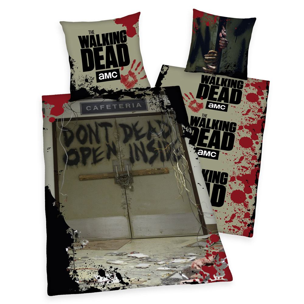 Photo du produit WALKING DEAD PARURE DE LIT DON'T OPEN DEAD INSIDE 135 X 200 CM / 80 X 80 CM