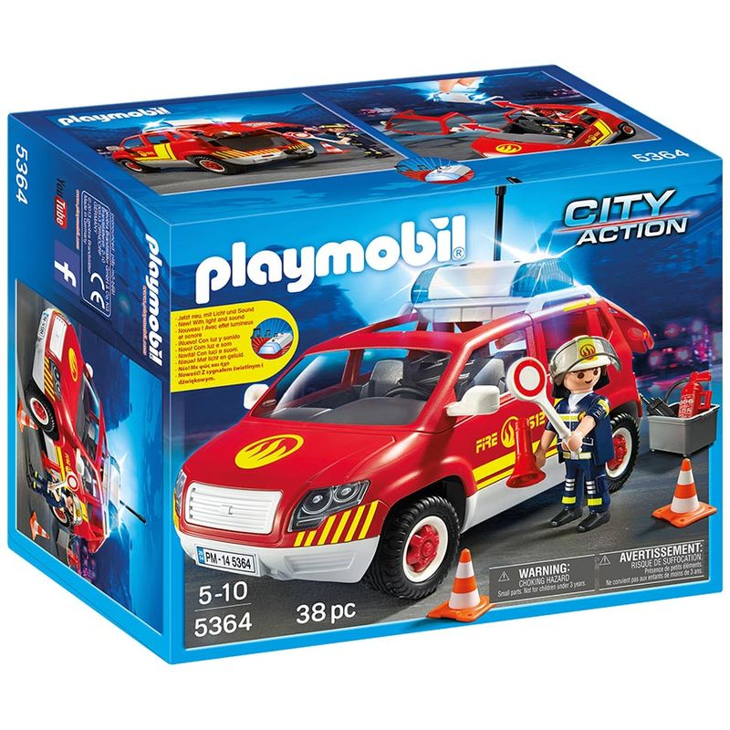 Photo du produit PLAYMOBIL - CITY ACTION - 5364 - VEHICULE D'INTERVENTION AVEC SIRENE