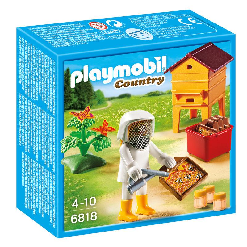 Photo du produit PLAYMOBIL COUNTRY 6818 APICULTEUR AVEC RUCHE D'ABEILLES