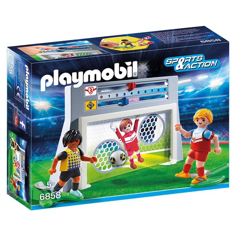 Photo du produit PLAYMOBIL - 6858 - CAGE DE TIR AU BUT AVEC FOOTBALLEURS