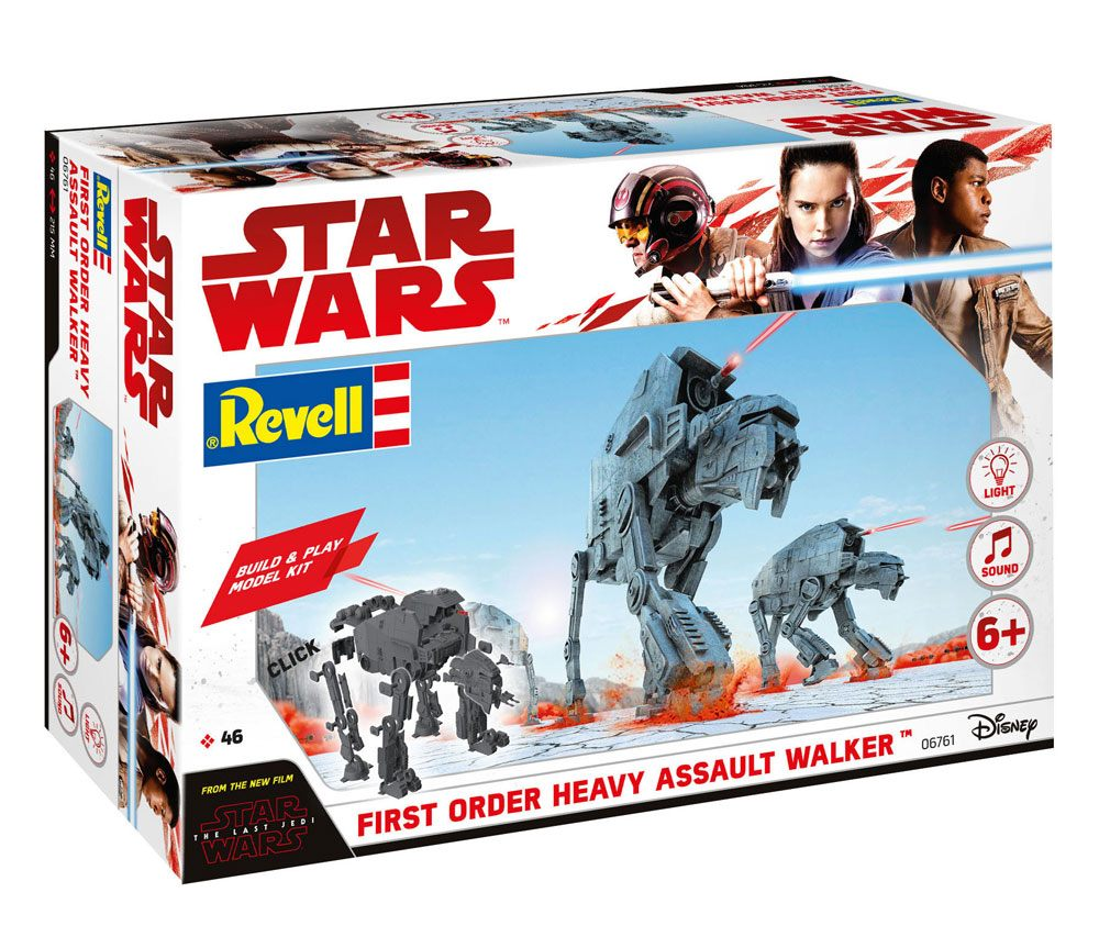 Photo du produit STAR WARS PACK MAQUETTE BUILD & PLAY SONORE ET LUMINEUSE 1/164 1ST ORDER HEAVY ASSAULT