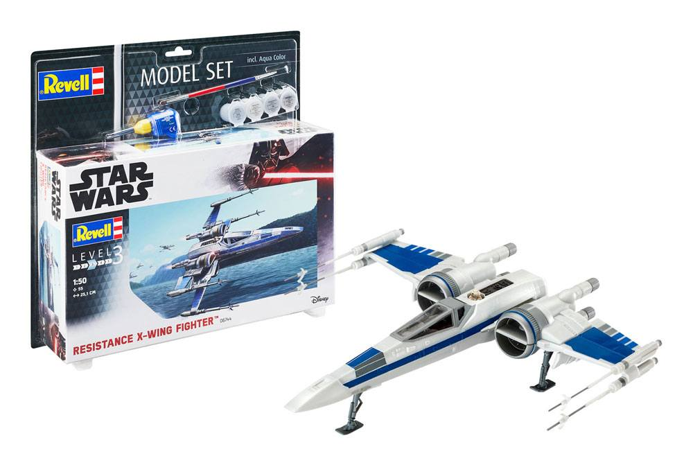 Photo du produit STAR WARS MAQUETTE 1/50 MODEL SET RESISTANCE X-WING FIGHTER 25 CM