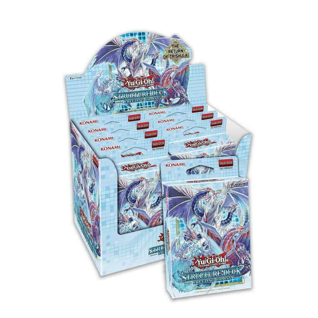 Photo du produit Yu-Gi-Oh! présentoir 8 Structures decks Freezing Chains (ANGLAIS)