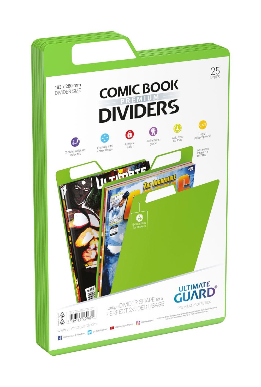 Photo du produit Ultimate Guard 25 intercalaires pour Comics Premium Comic Book Dividers Vert
