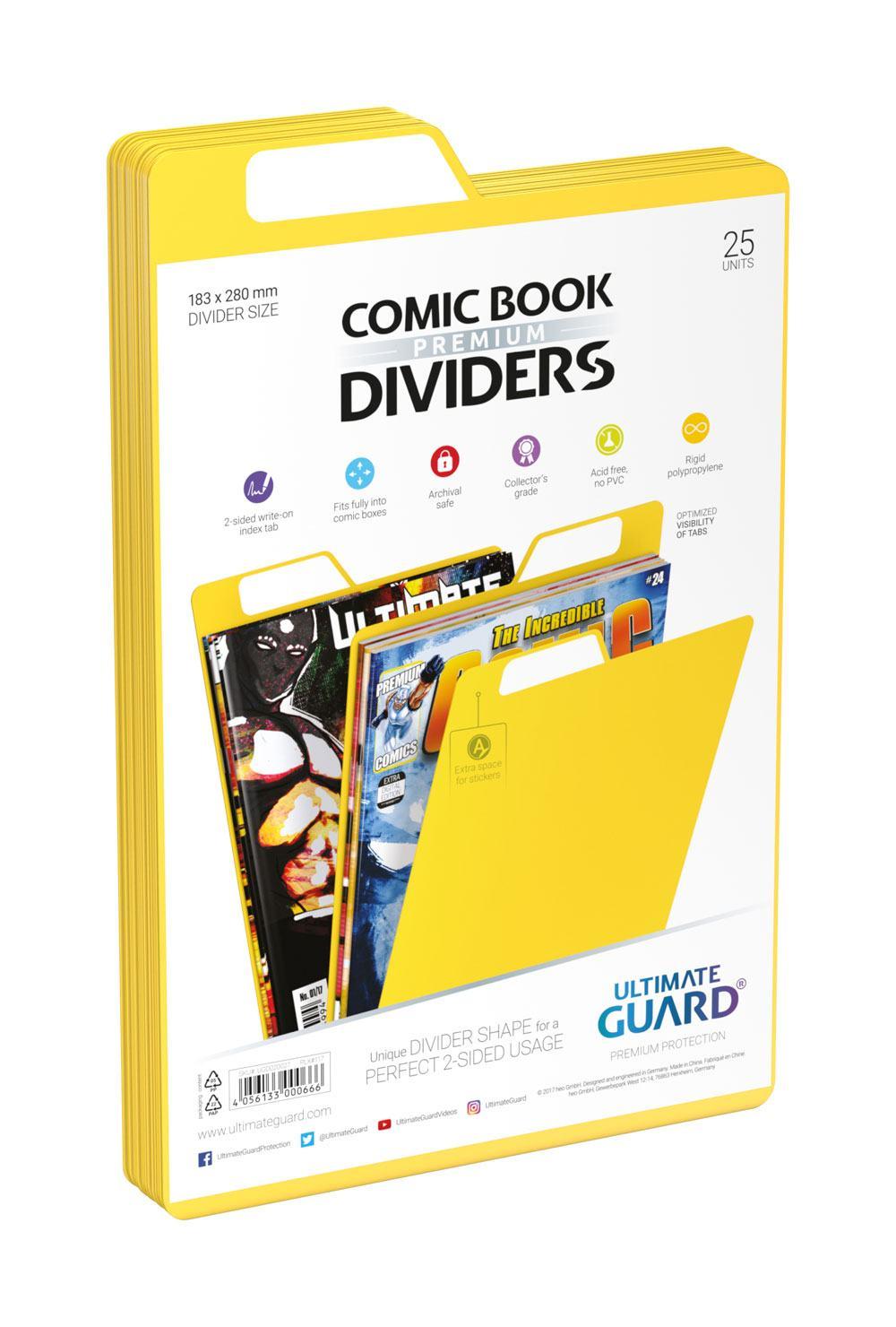 Photo du produit Ultimate Guard 25 intercalaires pour Comics Premium Comic Book Dividers Jaune
