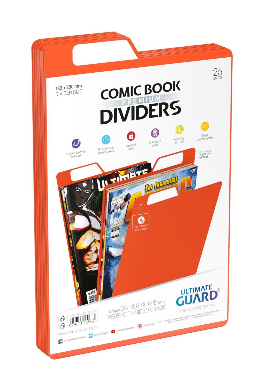 Photo du produit Ultimate Guard 25 intercalaires pour Comics Premium Comic Book Dividers Orange