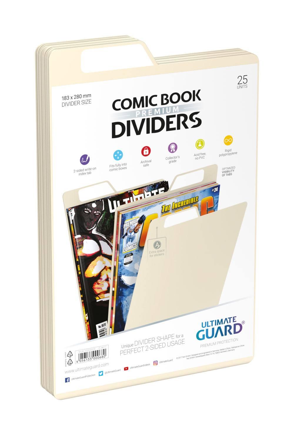 Photo du produit Ultimate Guard 25 intercalaires pour Comics Premium Comic Book Dividers Sable
