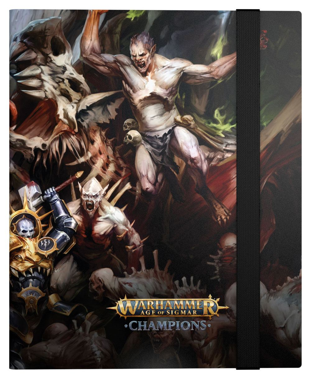 Photo du produit WARHAMMER AGE OF SIGMAR CHAMPIONS 18-POCKET FLEXXFOLIO ORDER VS. DEATH