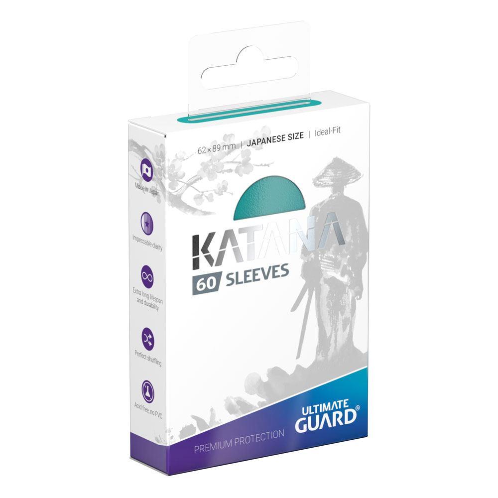 Photo du produit Ultimate Guard 60 pochettes Katana Sleeves format japonais Turquoise