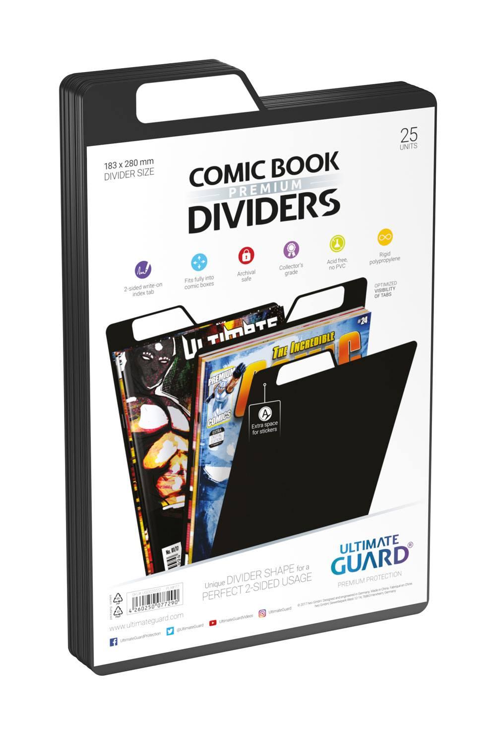 Photo du produit Ultimate Guard 25 intercalaires pour Comics Premium Comic Book Dividers Noir
