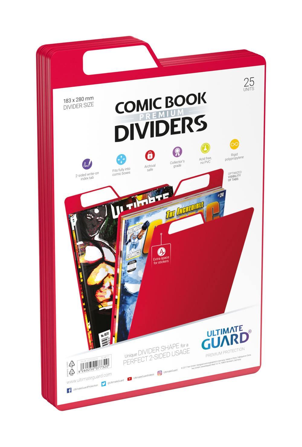Photo du produit Ultimate Guard 25 intercalaires pour Comics Premium Comic Book Dividers Rouge