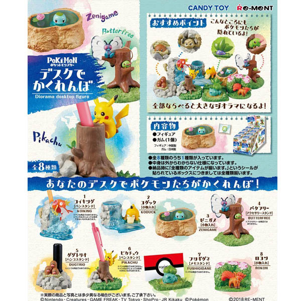 Photo du produit POKEMON DESKTOP DIORAMA FIGURE BOITE DE 8