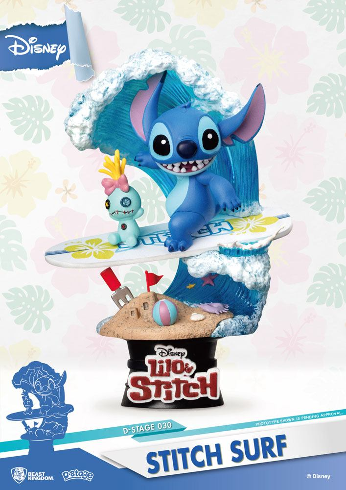 Photo du produit DISNEY SUMMER SERIES DIORAMA PVC D-STAGE STITCH SURF 15 CM