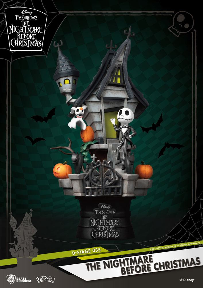 Photo du produit L´ÉTRANGE NOËL DE MR. JACK DIORAMA PVC D-STAGE JACK'S HAUNTED HOUSE 15 CM
