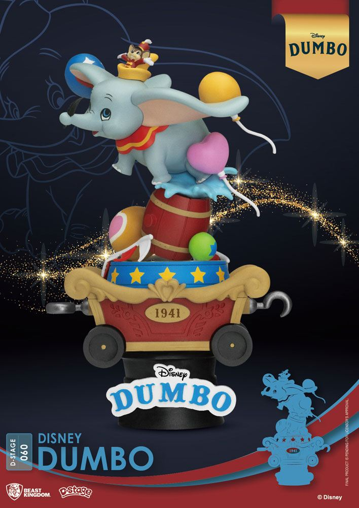 Photo du produit DISNEY BEAST KINGDOM CLASSIC ANIMATION SERIES DIORAMA PVC D-STAGE DUMBO 15 CM