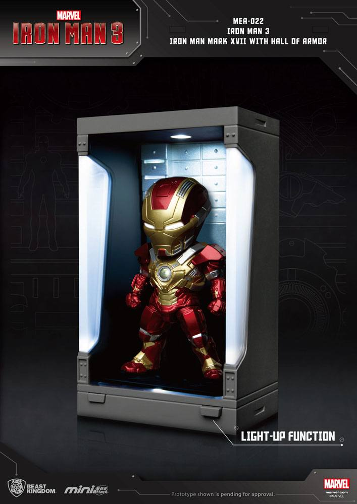 Photo du produit IRON MAN 3 MINI EGG ATTACK FIGURINE HALL OF ARMOR IRON MAN MARK XVII 8 CM