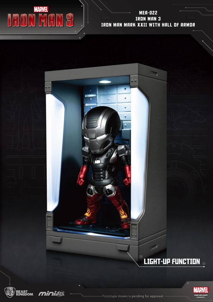 Photo du produit IRON MAN 3 MINI EGG ATTACK FIGURINE HALL OF ARMOR IRON MAN MARK XXII 8 CM