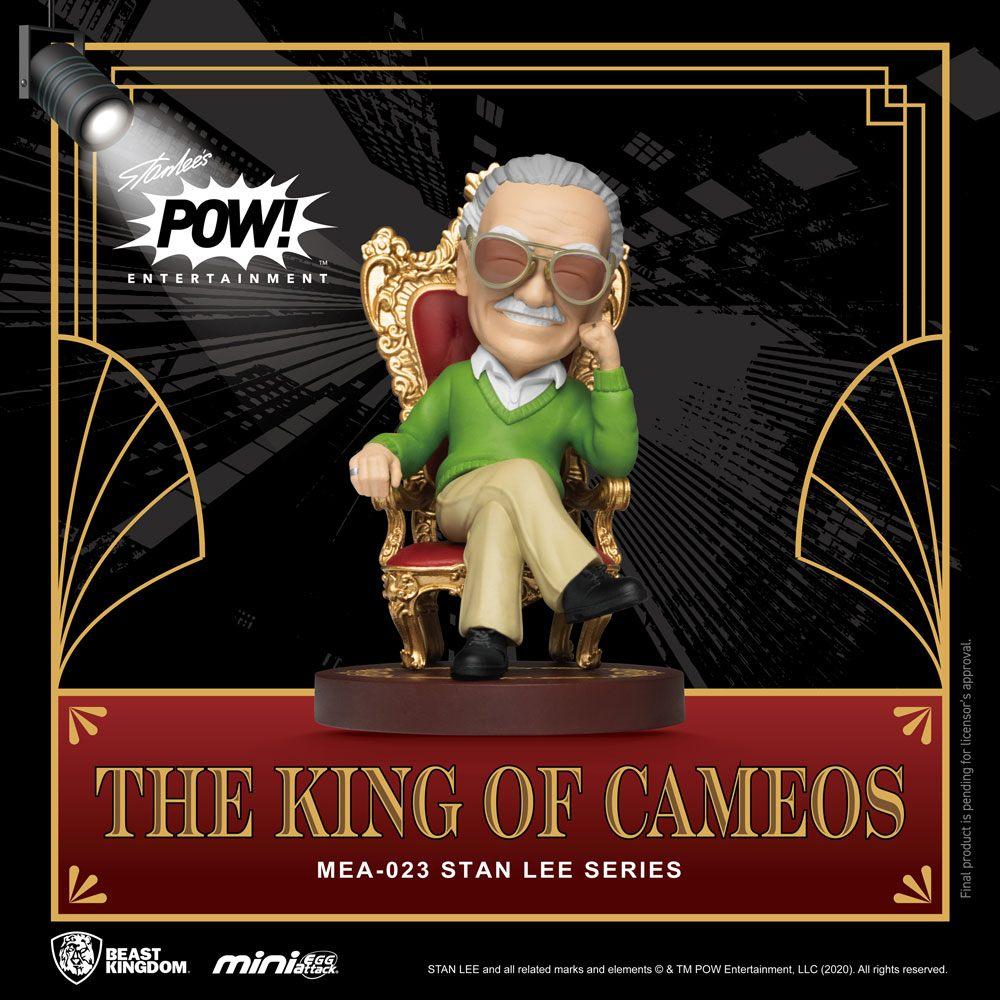 Photo du produit BEAST KINGDOM FIGURINE MINI EGG ATTACK STAN LEE THE KING OF CAMEOS 8 CM