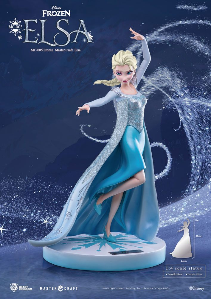 Photo du produit LA REINE DES NEIGES STATUETTE MASTER CRAFT 1/4 ELSA OF ARENDELLE 45 CM