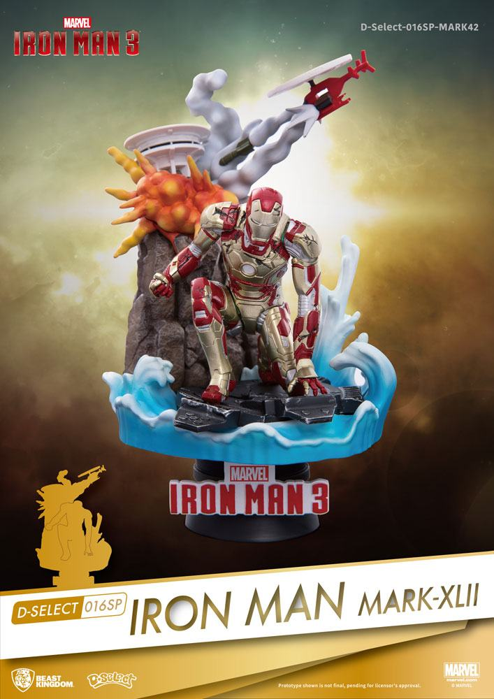 Photo du produit IRON MAN 3 DIORAMA PVC D-SELECT IRON MAN MARK XLII 15 CM