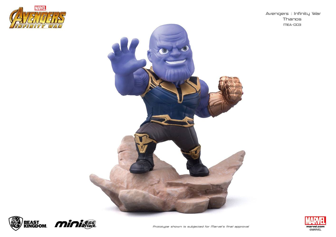 Photo du produit AVENGERS INFINITY WAR FIGURINE MINI EGG ATTACK THANOS 9 CM