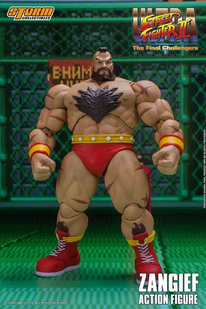 Photo du produit Ultra Street Fighter II The Final Challengers figurine 1/12 Zangief 19 cm