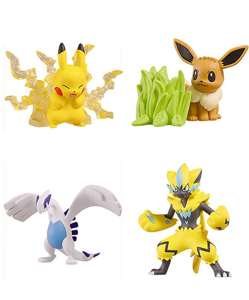 Photo du produit POKEMON GASHAPON CAPSULE ACT MOVIE 2018 (4 PIECES)
