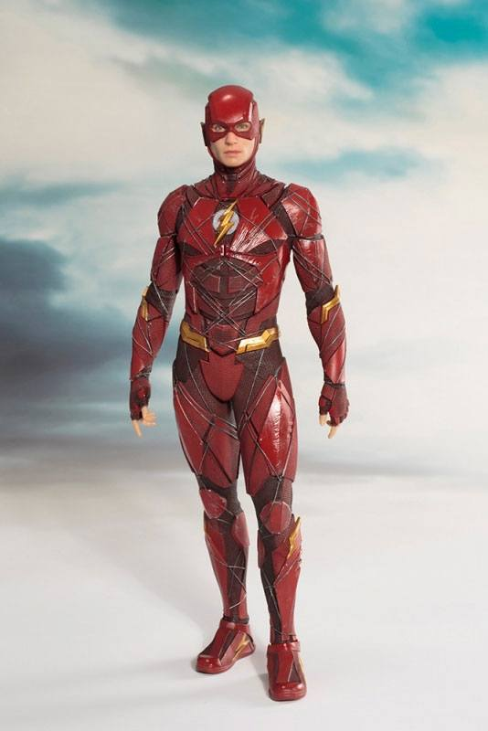 Photo du produit JUSTICE LEAGUE MOVIE STATUETTE PVC ARTFX+ 1/10 THE FLASH 19 CM