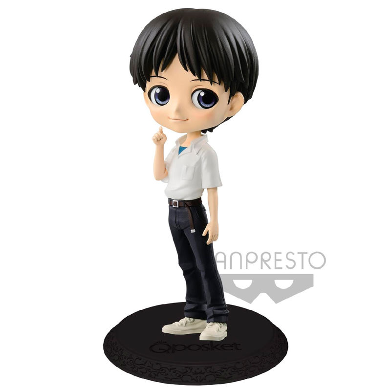 Photo du produit EVANGELION MOVIE FIGURINE Q POSKET SHINJI IKARI VER. A 14 CM
