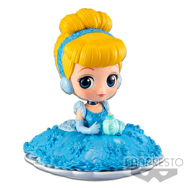Photo du produit DISNEY FIGURINE Q POSKET SUGIRLY CINDERELLA A NORMAL COLOR VERSION 9 CM