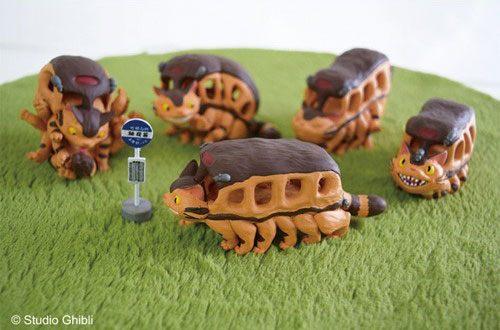 Photo du produit Mon voisin Totoro assortiment 6 figurines Catbus 6 cm