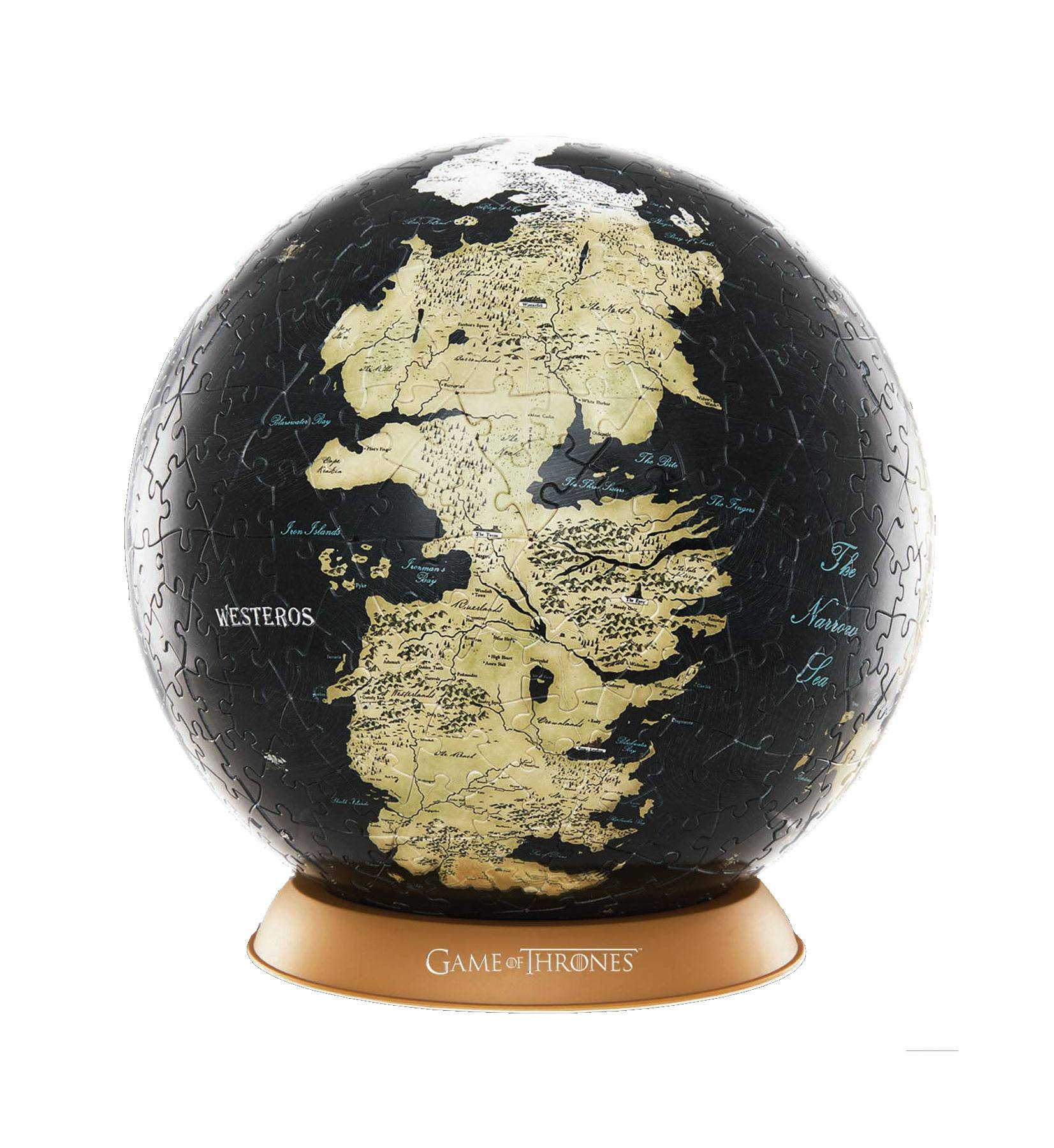 Photo du produit LE TRONE DE FER PUZZLE 3D GLOBE UNKNOWN WORLD (80 PIECES)