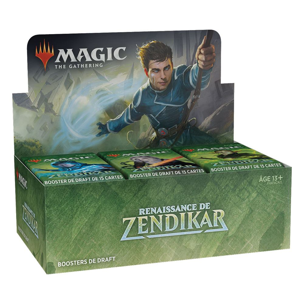 Photo du produit PRÉSENTOIR CONTENANT 36 BOOSTERS DE 15 CARTES.MAGIC THE GATHERING RENAISSANCE DE ZENDIKAR BOOSTERS DE D
