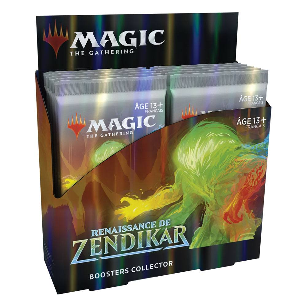 Photo du produit PRÉSENTOIR CONTENANT 12 BOOSTERS DE 16 CARTES MAGIC THE GATHERING RENAISSANCE DE ZENDIKAR BOOSTERS COLL