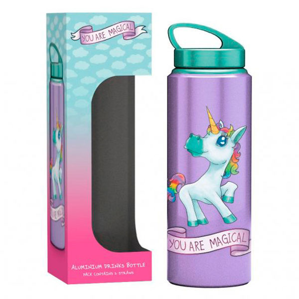 Photo du produit BOUTEILLE GOURDE ALUMINIUM LICORNE YOU ARE MAGICAL