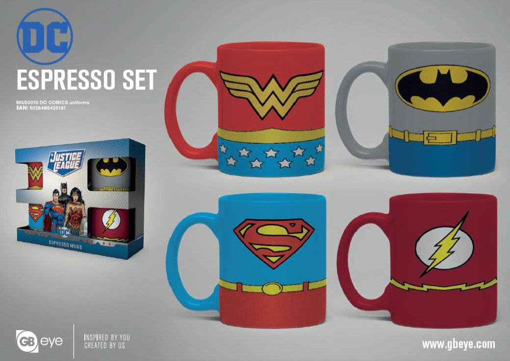 Photo du produit DC COMICS PACK 4 TASSES ESPRESSO UNIFORMS