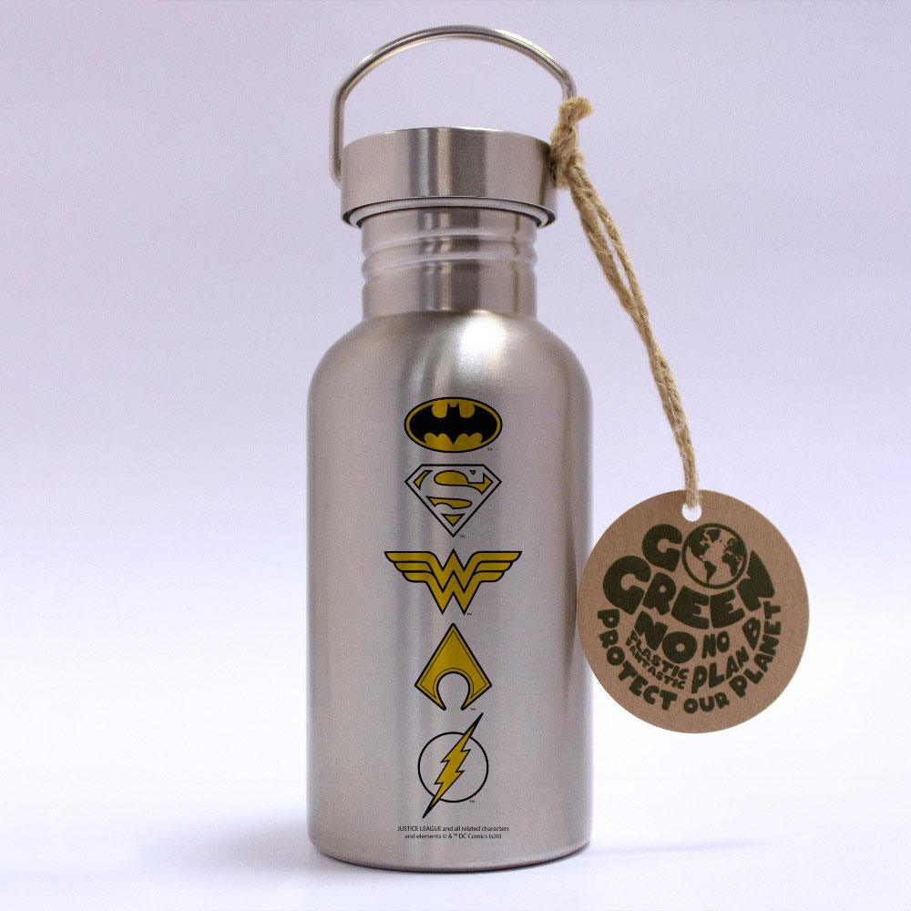Photo du produit DC COMICS BOUTEILLE METAL LOGOS