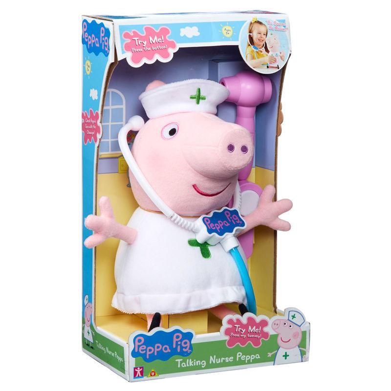 Photo du produit Peluche Peppa Pig Infirmière sonore 33 cm