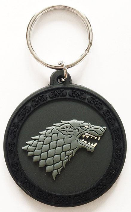 Photo du produit GAME OF THRONES PORTE-CLÉS CAOUTCHOUC STARK 6 CM