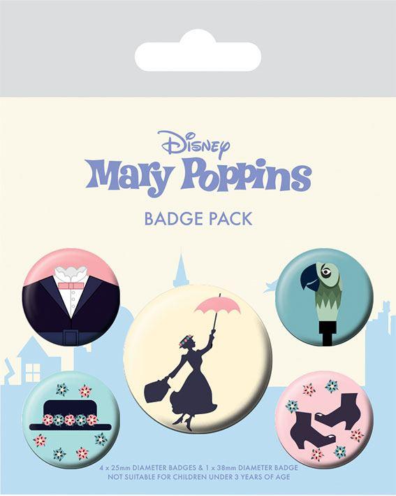 Photo du produit MARY POPPINS PACK 5 BADGES