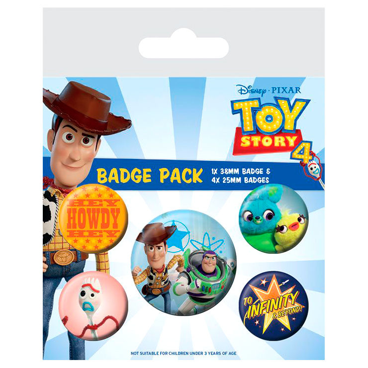 Photo du produit TOY STORY 4 PACK 5 BADGES FRIENDS FOR LIFE